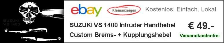 Alu Custom Bremshebel und Kupplungshebel für die Suzuki VS 1400 Intruder (VX51L) ´89-03